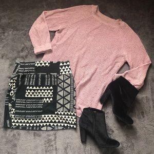 Black Tribal Body Con Mini Skirt